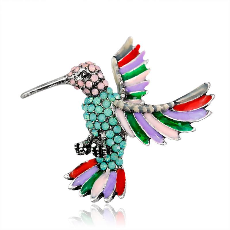 Animal Brooches Aliexpress Buy Fashion Enamel Opal Rhinestone Bird