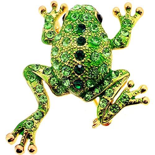 Animal Brooches Green Frog Swarovski Crystal Animal Pin Brooch Buy