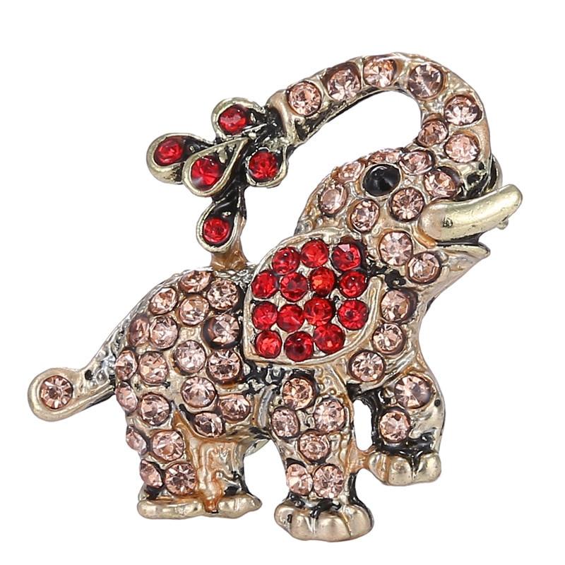 Animal Brooches Trendy small elephant Brooch pin crystal Rhinestone