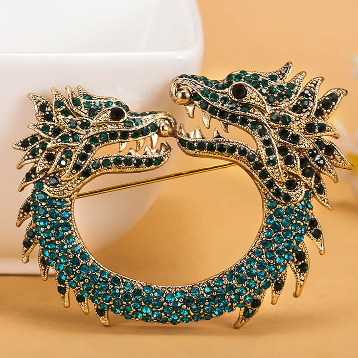 Animal Brooches Statement Cool Dragon Brooches Fashion Men s Vintage