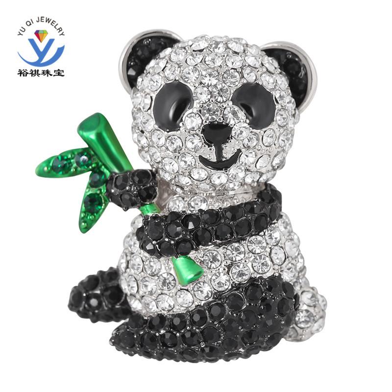 Animal Brooches Cute Animal Brooches Jewelry Black White Rhinestone Small
