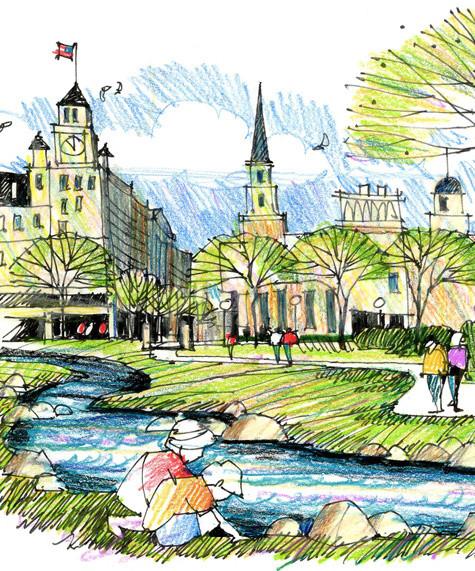 Landscape Fountain Sketch Landscape Architecture – THE DIRT