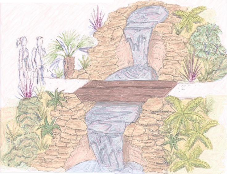 Landscape Fountain Sketch 17 Best images about Garden Design Sketches on Pinterest