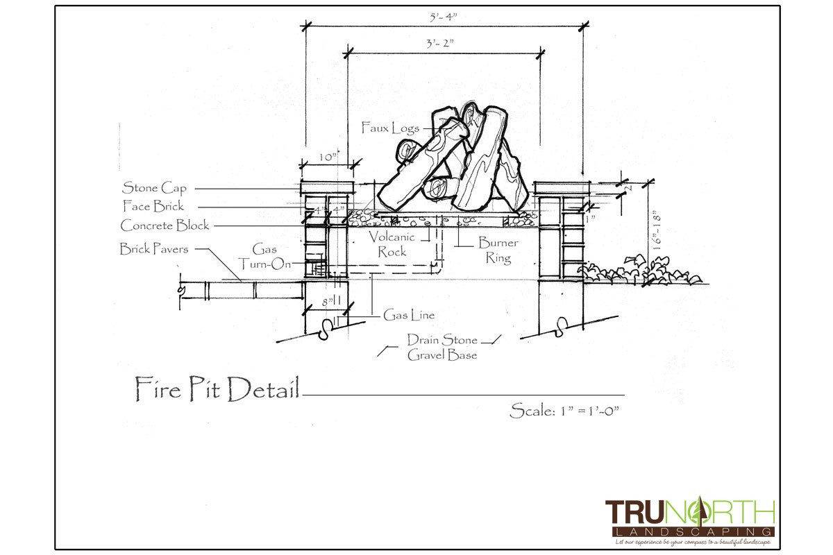Landscape Fountain Sketch 44 Patio Fountain Section Drawing Paving Surfacing